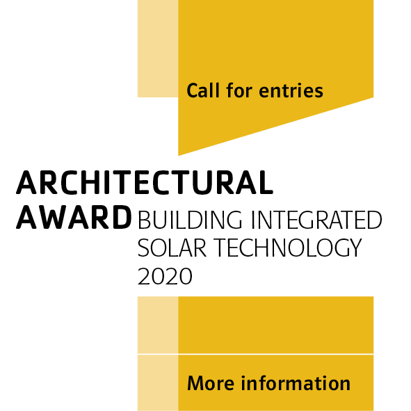 Logo of the competition Architectural Award Building Integrated Solar Technology 2020